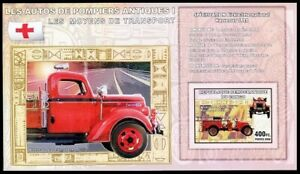 Antique Fire Brigade, Red Cross, Harvester, Transport, Congo 2006 MNH imperf MS