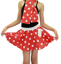 Girls 5-10 Years Polka Dot Skirt Rock & Roll Fancy Dance Party Dress Costume Σ