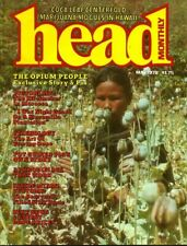 HEAD MONTHLY May 1978 1970s DRUG CULTURE, CANNABIS, COCAINE, APHRODISIACS, OPIUM