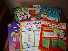 Lot of 6 Teacher Resource Books PreK- Grade 2 Sight Words Language Arts