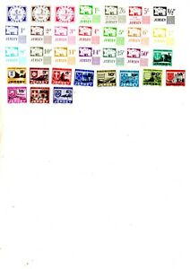 channel islands stamps, jersey postage due