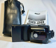 Nikon SB-28 Speedlite Flash + soft case & Manual