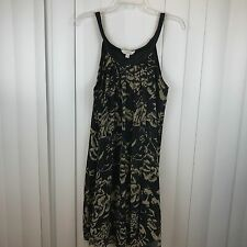 Charming Charlie Loose Fit Lined Print Black Tan Beige Sz Small Summer Dress