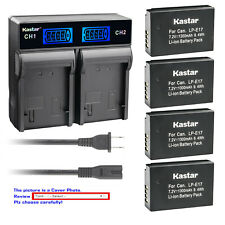 Kastar Battery LCD Rapid Charger for E17 Canon EOS RP Mirrorless Digital Camera