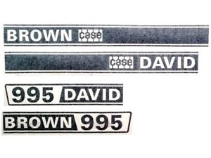 DECAL SET FOR DAVID BROWN 995 TRACTORS
