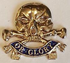 White Metal & Blue Enamel Lapel Badge 17th / 21st Lancers