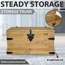 vidaXL Storage Chest Mexican Pine Corona Range 91x49.5x47cm Trunk Case Box