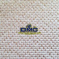 Cross Stitch Aida Fabric - 14ct linen with golden color thread - 50cm x 50cm