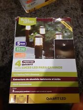 New listing Set of 4 Better Homes and Gardens Prentiss QuickFit Led Pathway Light Nib