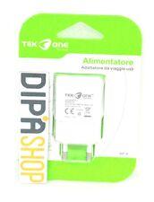 Adattatore Alimentatore Da Rete TeKone J5 Caricabatteria Usb 1.5A Bianco hsb