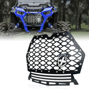 Fit 2019-2020 Polaris RZR 1000 XP Turbo Black Steel Front Mesh Grille w/ Badge