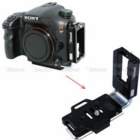L-Bracket Vertical Quick Release Plate for Sony a99 a77 a65 Camera Battery Grip