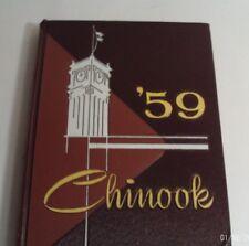 1959 CHINOOK YEARBOOK -- STATE COLLEGE OF WASHINGTON, PULLMAN WASHINGTON (H/C)
