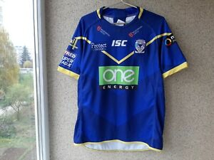 Warrington Wolves Home Rugby Shirt 2018/2019 Jersey Size L ISC Blue England