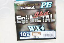 Ygk Real Sports G-soul Pe Egi & Metal Wx4 Pe 180m Hanger Pack 10lb #0.5