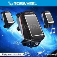 Roswheel Bike Bicycle Front Frame Pannier Tube Bag Pouch Holder Mobile Phone