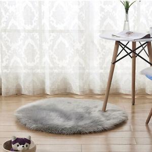 Round Soft Carpet for Living room Wool Area Rugs Floor Mat White Plush Carp SC