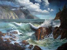 ZWPT588 fancy sea ocean wave seascape hand painted art oil painting on canvas
