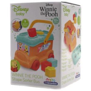 Baby Clementoni Disney Winnie the Pooh Shape Sorter Bus Push-Along Toy - 17282