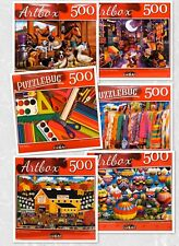 Lot of 3- 500 Piece Jigsaw Puzzles Random Puzzles All new Sealed FAST SHIPPING!!