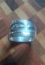 Sterling Silver Ring HAIDA Raven-Finned Killer Whale Alvin Adkins