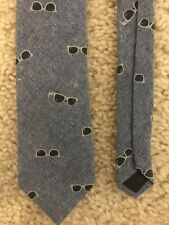 543ae0513228 Kids Dress Tie Old Navy 100% Cotton Size M Blue With Sunglasses Design