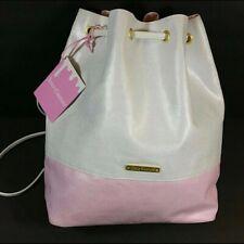 JUICY COUTURE PINK and WHITE GLITTER RUCKSACK BACKPACK STYLE BUCKET BAG