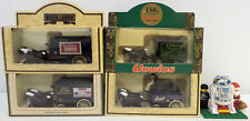 VEHICLES : SET OF 4 HORSE DRAWN DELIVERY VANS MADE BY LLEDO (DT) 149