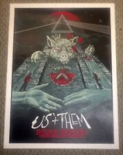 ROGER WATERS US + AND THEM NORTH AMERICAN 2017 TOUR POSTER #833/1000 Pink Floyd
