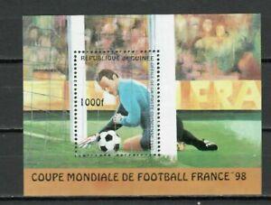 S7212) Guinee 1997 MNH Wc Football ' 98- CM Fútbol Bf S/S
