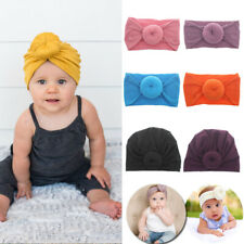 Fashion Baby Hairbands Turban Headwrap Cap Headbands Hat Toddler Kids Bow Cap