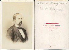 Duc de Montpensier CDV vintage albumen. Tirage albuminé  6,5x10,5  Circa 1