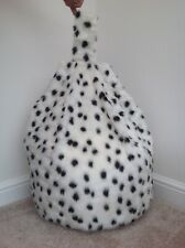 Cover only bean bag adult B&W Dalmatian 6 cubic ft Animal print new