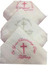 PERSONALISED White Christening Shawl - Blanket