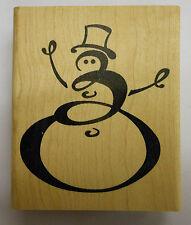 Tampon en Caoutchouc Top Hat bonhomme de neige-JK 2189 G