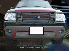 01-05 Ford Explorer Sport/Sport Trac Billet Combo Grille Grill Insert Fedar