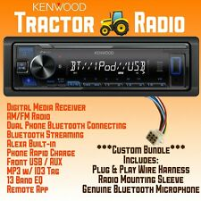 Kubota Tractor Radio Bundle Harness Usb Aux Bluetooth Rtv Rtx 1100c B2650 X1100c