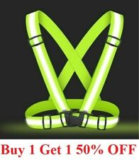 Adjustable Safety Reflective Vest Belt Stripe Strap Night Running Jogging Biking
