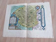 CARTE 1592 DE LA BOURGOGNE RARE