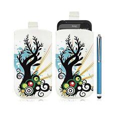Housse coque étui pochette pour HTC Incredible S avec motif HF03 + Stylet luxe