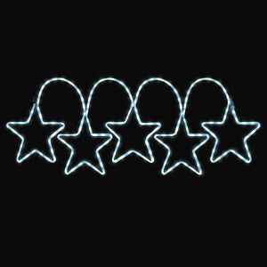 Christmas Star Light Flashing Outdoor Wall Decoration Rope Silhouette Christow