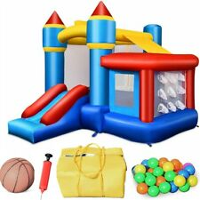 Inflatable Bounce House Castle Jumper Safety Bouncer w/ Balls Bouncy Kids Play