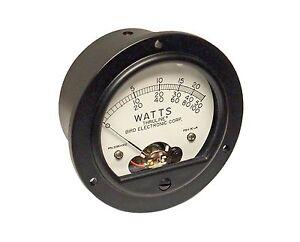 Replacement Meter for Bird 43 Wattmeter - Bird RPK2080-002