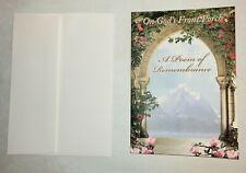 """Sympathy Cards (10 cards & 10 envelopes) with poem  """"On God's Front Porch""""  NEW"""