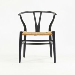 Vintage Hans Wegner Carl Hansen Denmark Wishbone Dining Chair Black