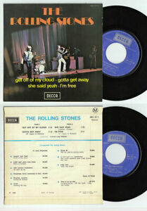 """The Rolling Stones Get Off Of My Cloud Decca 461211 French 7"""" 45 rarest EP"""
