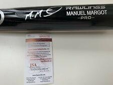 Manuel Margot Authentic Signed Rawlings Pro Mlb Bat w/ Jsa Coa Tampa Bay Rays
