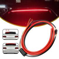 1x Car Red LED Rear 3rd Brake Strip Driving Warning Light Turn Signal Flexible