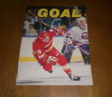 1988 GOAL MAGAZINE PENGUINS vs CALGARY FLAMES - JOE NIEUWENDYK COVER