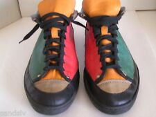 Hippy Sneakers Hippie Tennis Shoes Vintage 1977 ZODIAC Cheezburgers 1 of A Kind